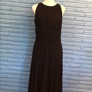 Women's little black dress below knee length